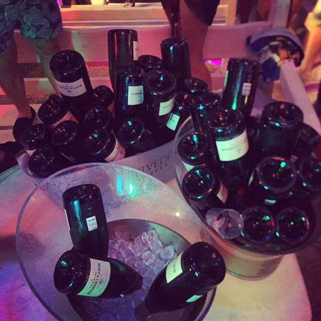 Tropicana bar Mykonos champagne bottle photo shared on Facebook