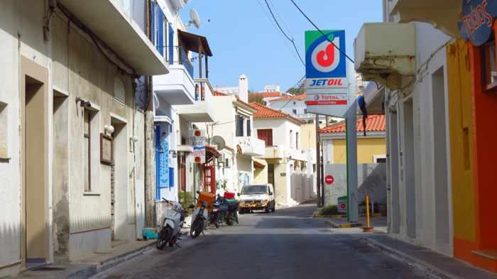 a street near Nimborio beach