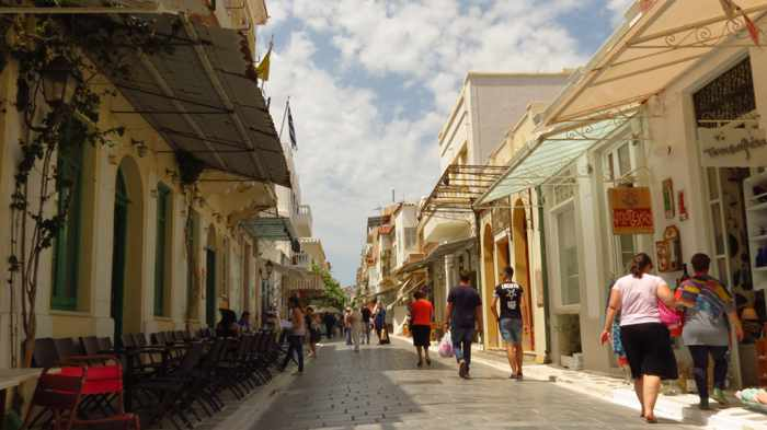 the main street in Andros Town