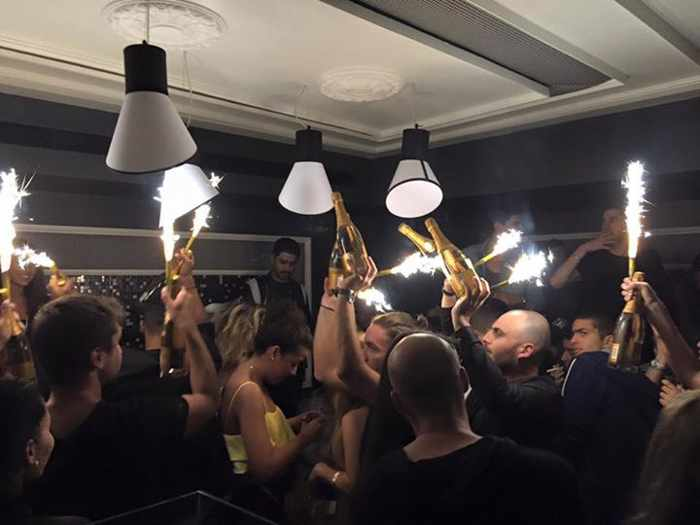 champagne bombs at Toy Room Mykonos nightclub from its Facebook page