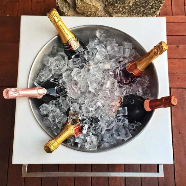champagne photo from Bill & Coo Suites and Lounge Facebook page