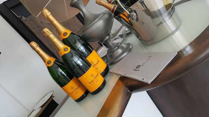 champagne photo from Facebook page for Myconian Imperial resort