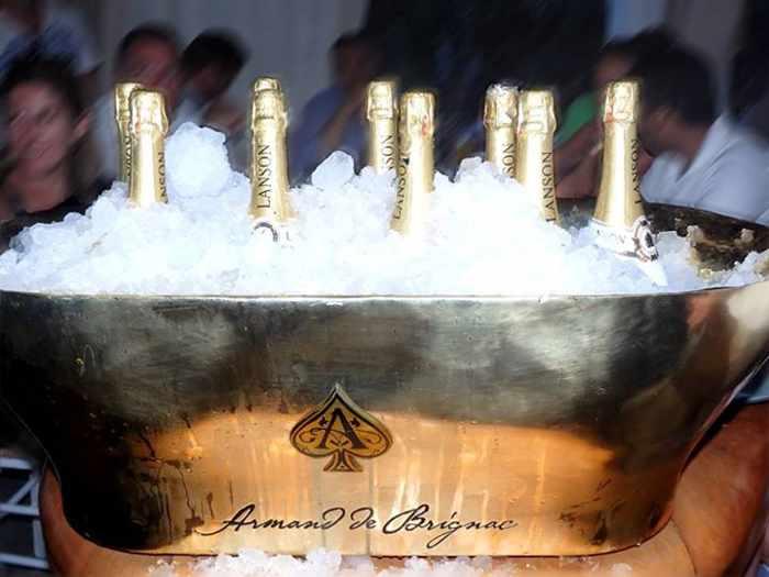 champagne at Nammos