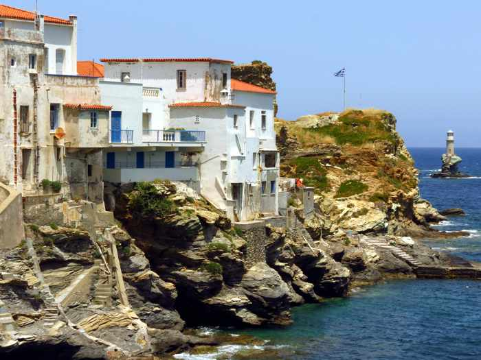 seaside houses in Andros Town
