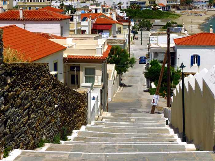 a street in Andros Town