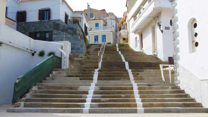 steps in Andros Town