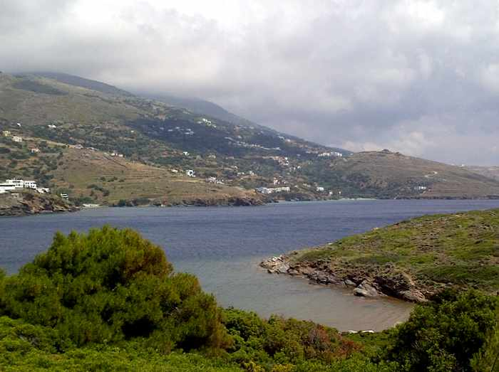 stormclouds approaching Batsi on Andros