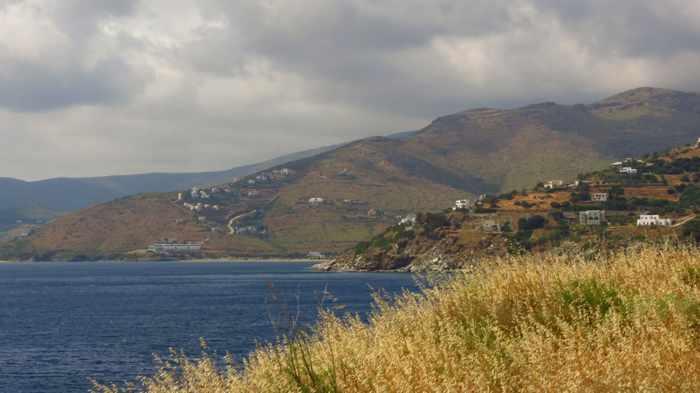 stormclouds over the coast near Batsi