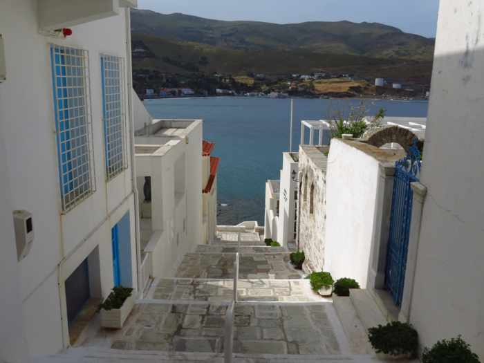 a lane in Andros Town