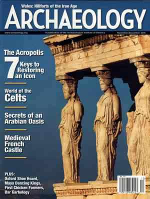Archaeology magazine cover for November December 2015