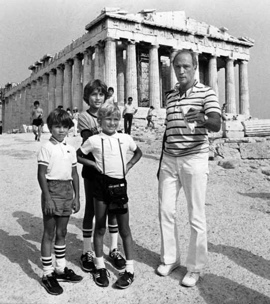 Trudeau family at the Acropolis