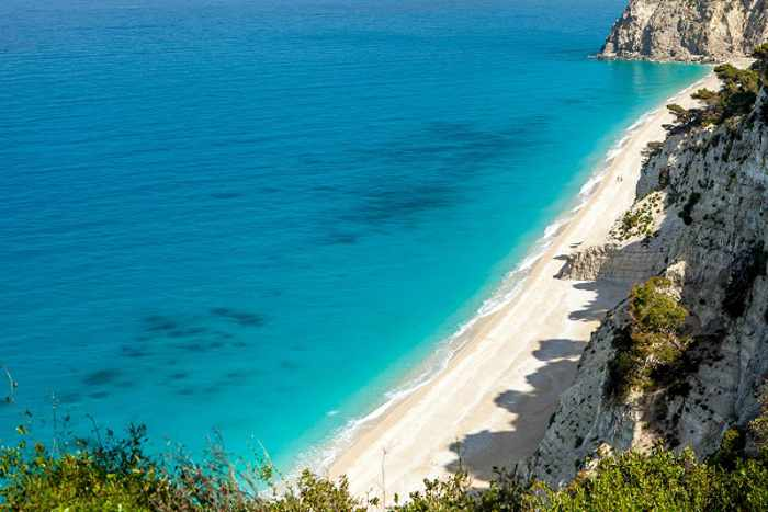Egremni beach on Lefkada