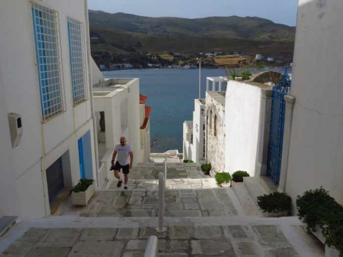 steps in a lane in Andros Town