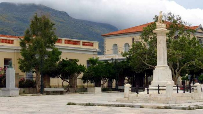 Goulandris Square in Andros Town