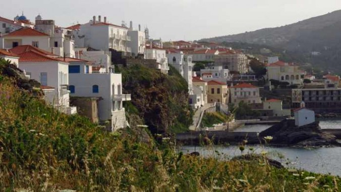 Venetian Kastro view of Andros Town
