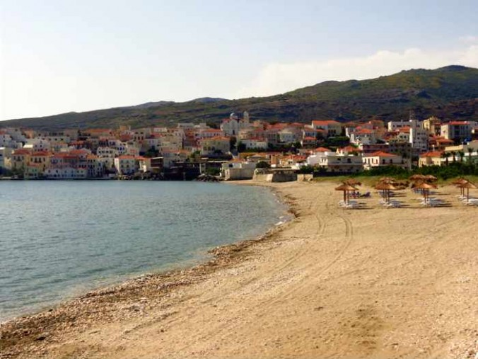 Chora beach at Andros Town