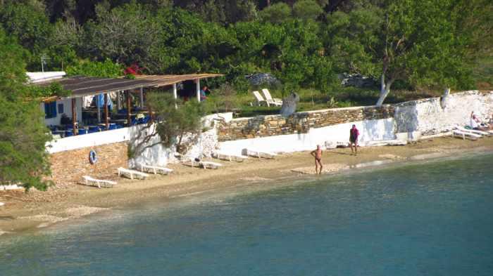 Agia Marina beach and taverna