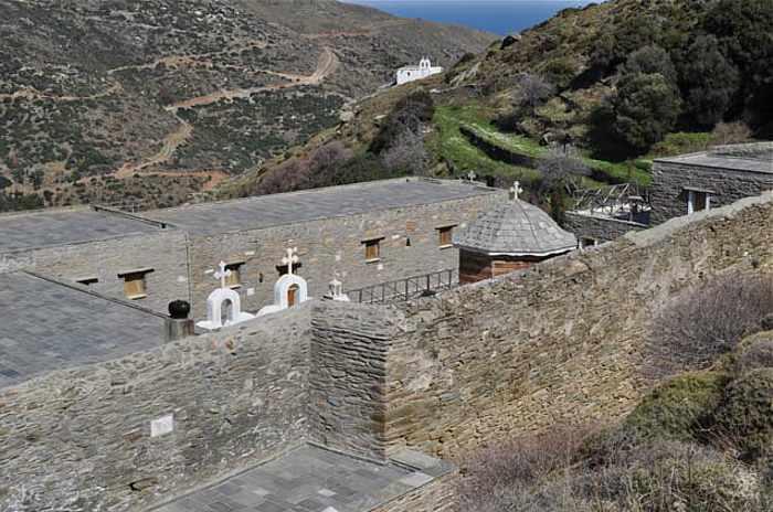 Agios Nikolaos monastery in Korthi region of Andros