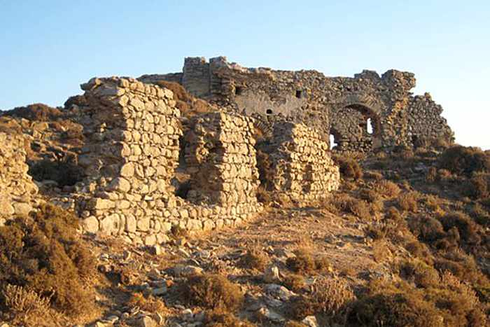 Apano Kastro ruins on Andros