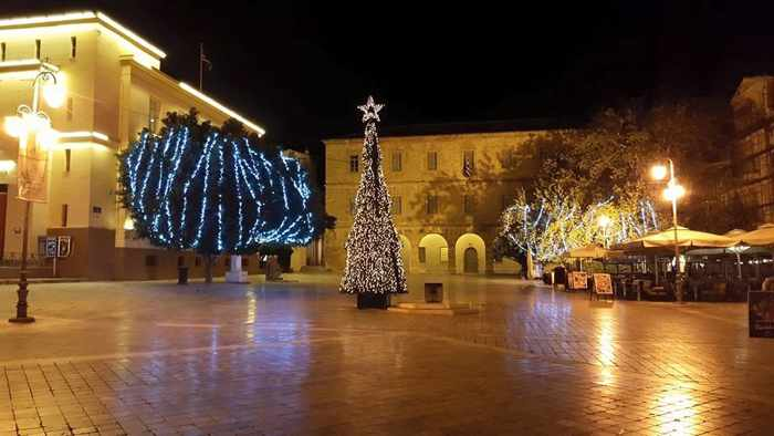 Christmas decorations at Nafplio