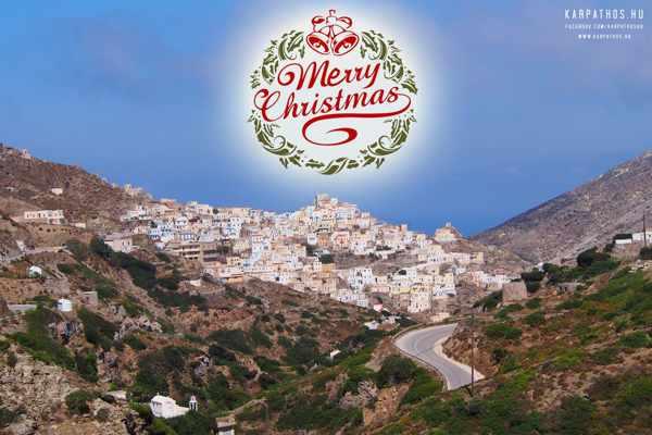 Karpathos Facebook page Christmas Greeting
