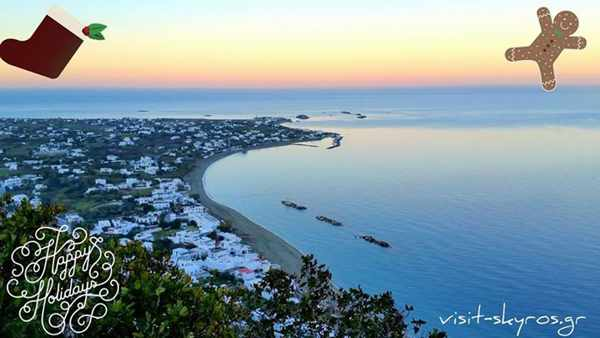 Christmas greeting from Visit Skyros Facebook page