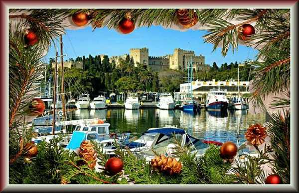 Christmas greeting shared on the Rhodes Facebook page