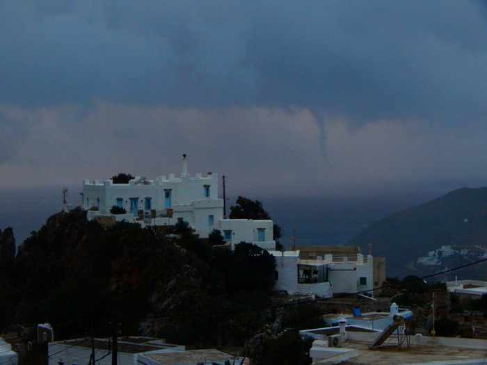 Funnel cloud off Amorgos island