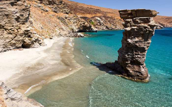 Grias Pidima beach photo from DiscoverGreece website