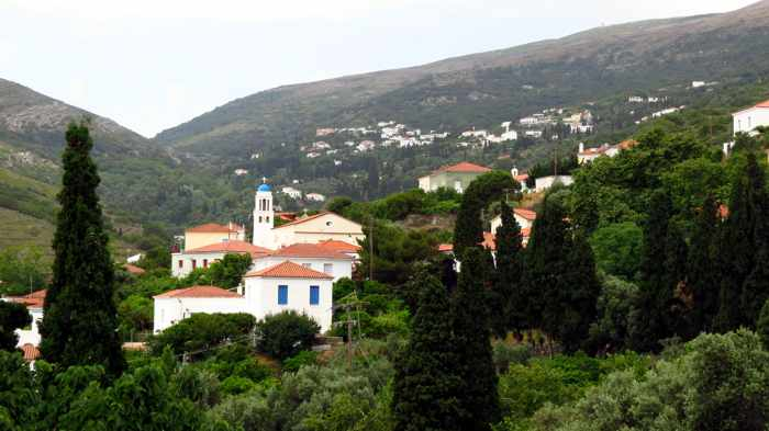 Stenies village on Andros
