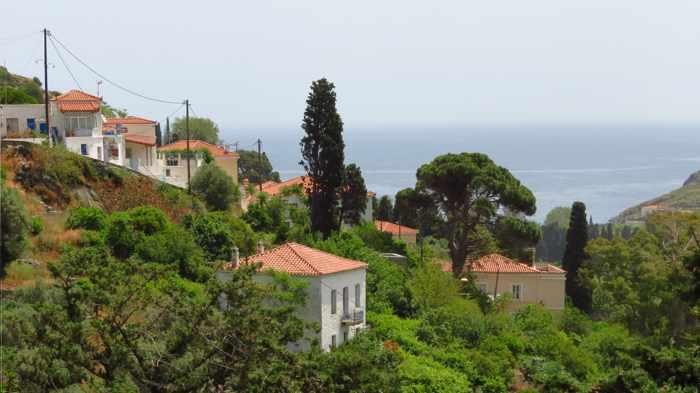 Stenies village on Andros