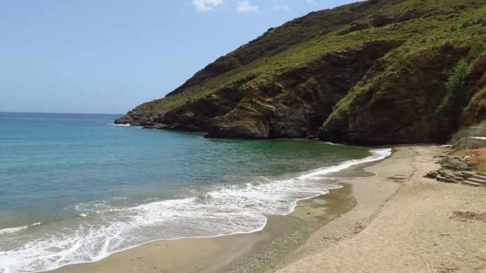 Gialia beach on Andros