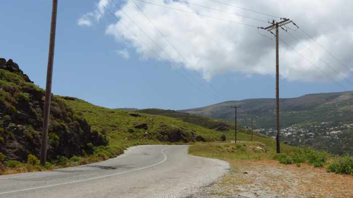 road to Stenies on Andros