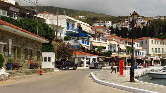 Batsi's waterfront street
