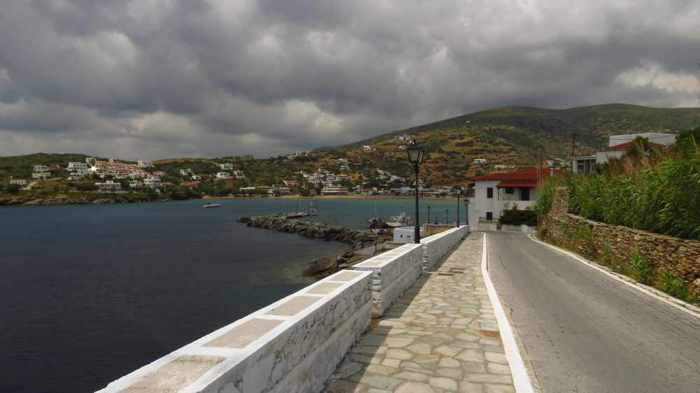 Batsi village on Andros