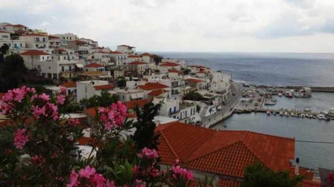 Batsi village Andros
