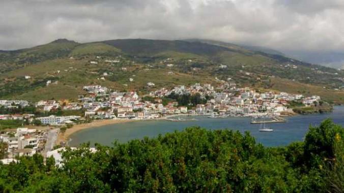 Batsi village on Andros