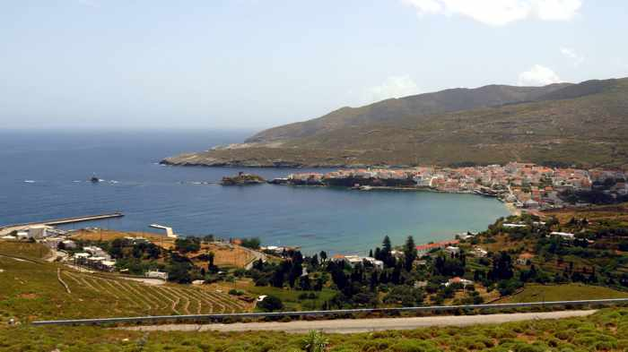 View toward Andros Town