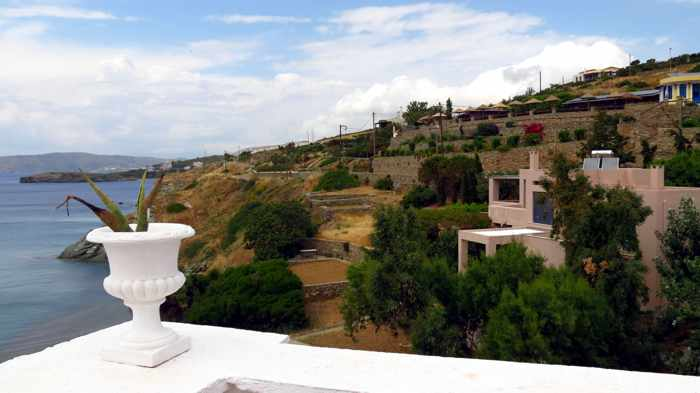 Aneroussa Beach Hotel view
