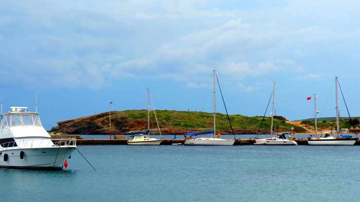 sailboats at Batsi