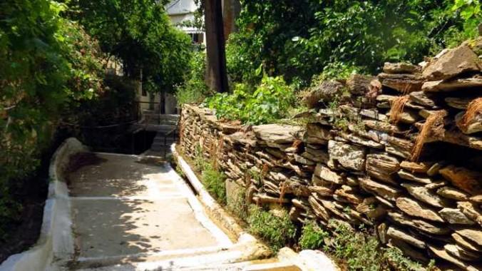 a hillside lane in Batsi