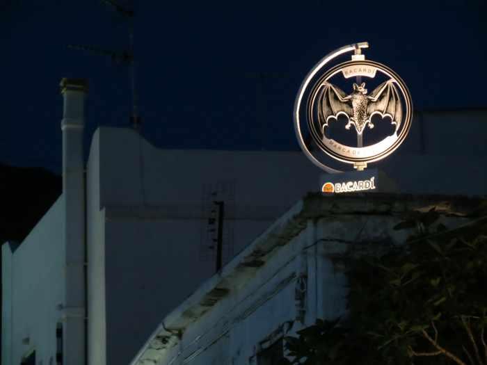 A Bacardi logo in Batsi