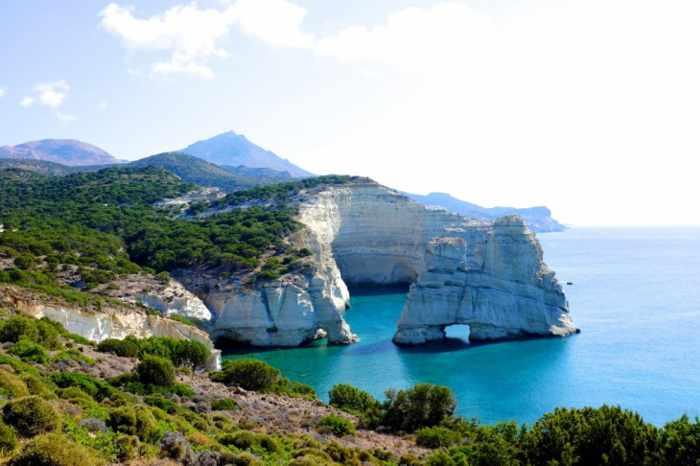 Kleftiko coast at Milos