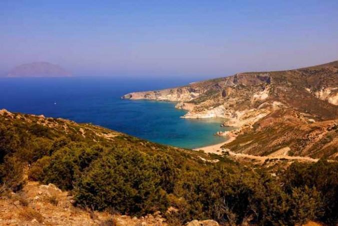 Milos coastal scenery