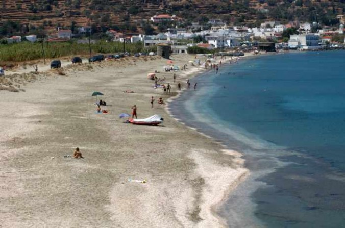 Mylos beach at Ormos Korthiou