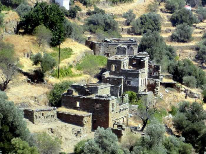 Kapparia village Andros
