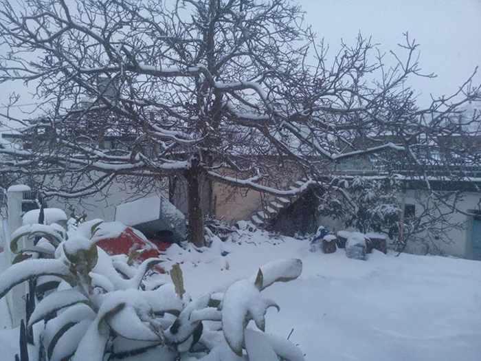 snow at Lasithi plateau Crete