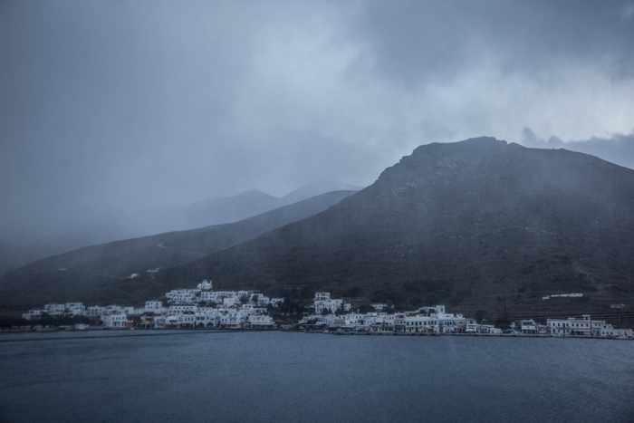 Snowflurries at Katapola on Amorgos photo shared on Facebook by Amorgos News IMG_4208