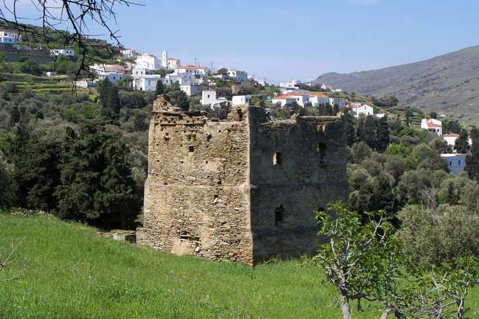 an old tower in Korthi photo by G Glynos on Panoramio