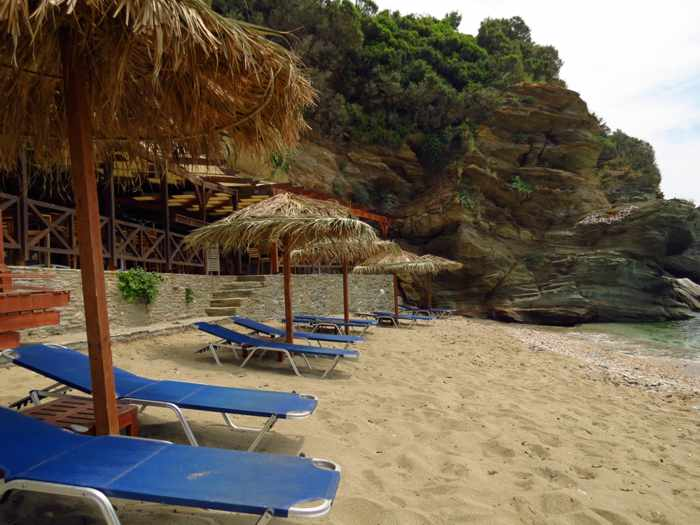 Aneroussa hotel beach